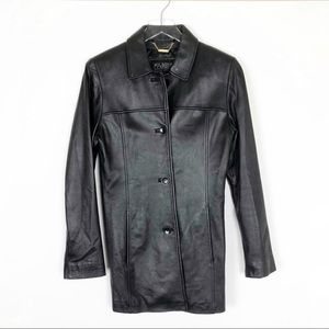 Wilsons Leather Pelle Studio Black Coat Size S